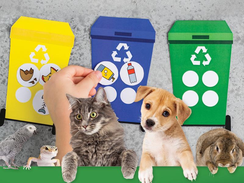 Aj zvieratká recyklujú